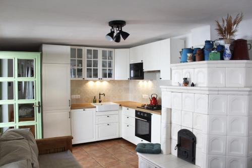 A kitchen or kitchenette at Dió-Lak Vendégház