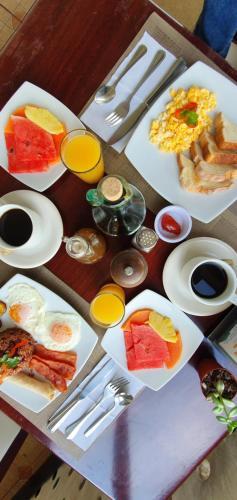 Ontbijt beschikbaar voor gasten van Camino Verde B&B Monteverde Costa Rica