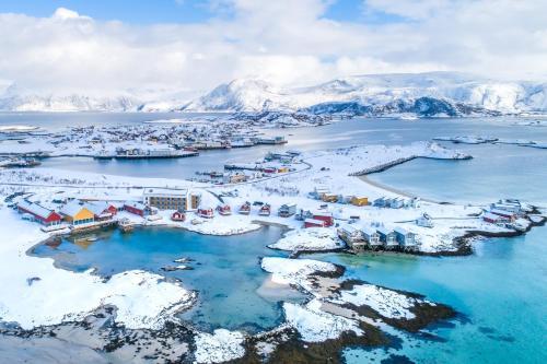 A bird's-eye view of Sommarøy Arctic Hotel Tromsø