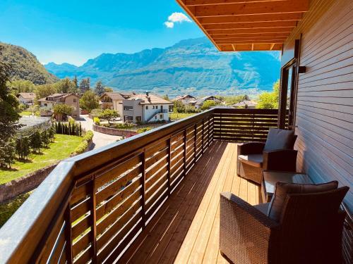 Ein Balkon oder eine Terrasse in der Unterkunft Pension Grasser