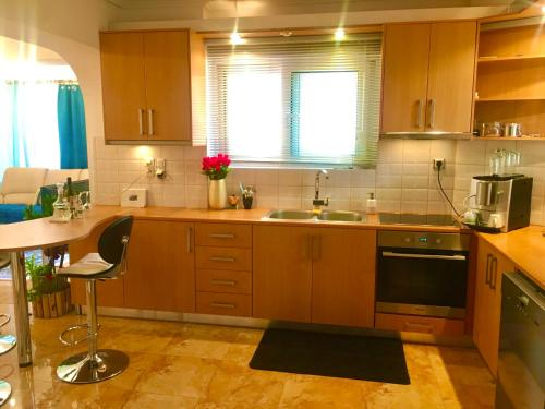 A kitchen or kitchenette at Madison hall,near the Athens airport