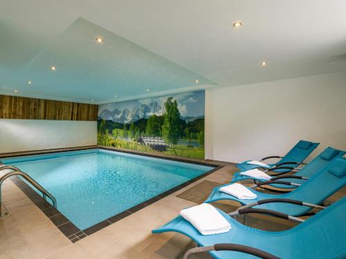The swimming pool at or near Hotel Haus Tirol