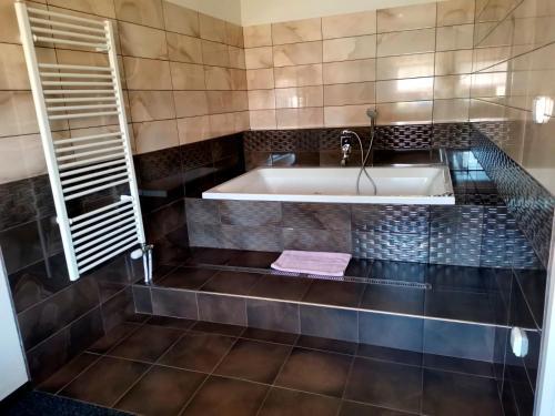 Koupelna v ubytování Hotel Styria