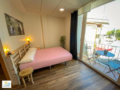 Cama o camas de una habitación en Mirador del Arco