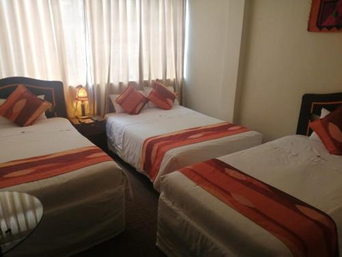 Un ou plusieurs lits dans un hébergement de l'établissement Andino Hotel