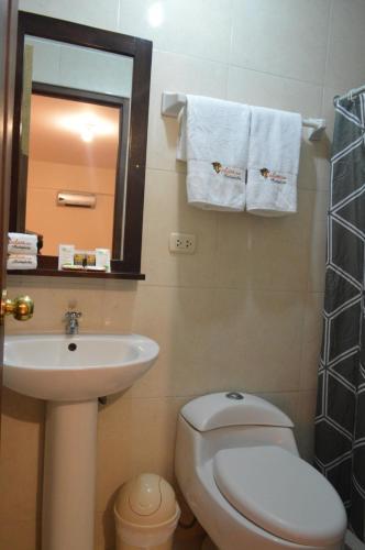 Salle de bains dans l'établissement Andino Hotel