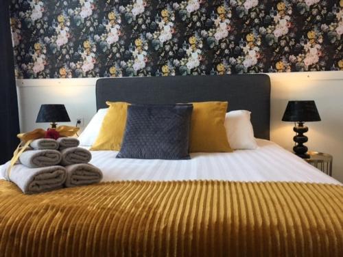 Un ou plusieurs lits dans un hébergement de l'établissement Hotel 't Witte Huys Scheveningen