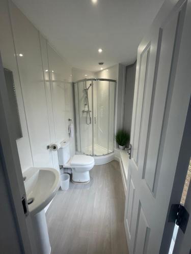 A bathroom at The Six Bells