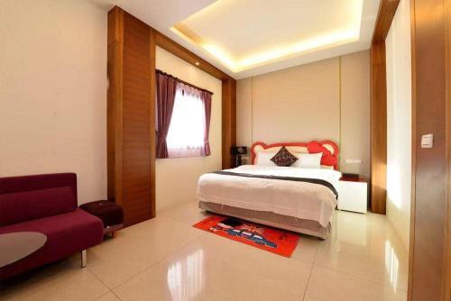 薇嬁民宿房間的床