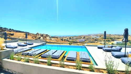 A view of the pool at Privilege houses Mykonos by villa evi or nearby