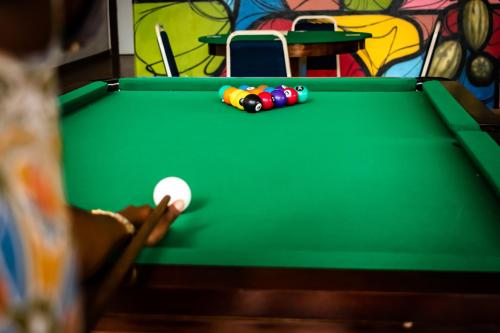 A pool table at Hotel Praia do Sol