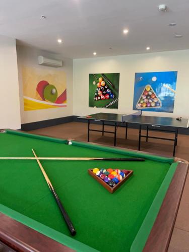A billiards table at The Auhana