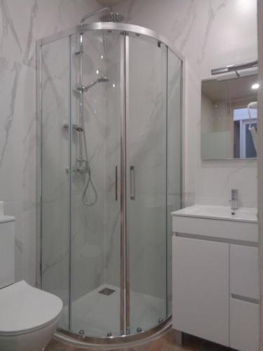 A bathroom at Hospedaria Srª do Carmo