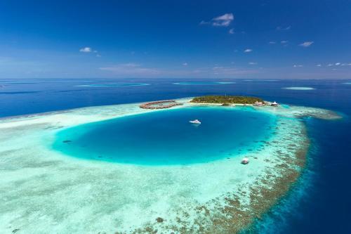 A bird's-eye view of Baros Maldives