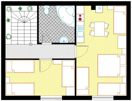 Plán poschodí v ubytovaní Apartments ADANA