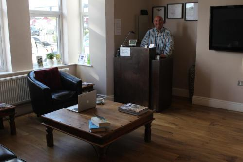 The lobby or reception area at Marlborough Guest House
