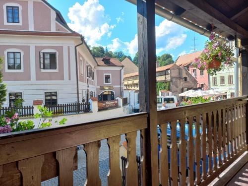 Balkón nebo terasa v ubytování Hostel Merlin