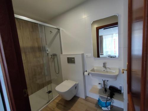 A bathroom at Lar do Peregrino