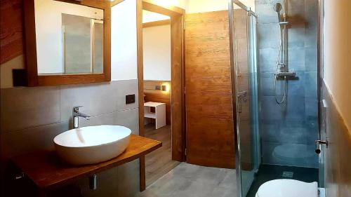 A bathroom at Camping Canè in Fiore