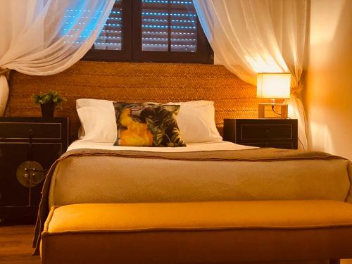 A bed or beds in a room at Casa Ruy Lopez