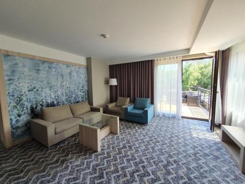 Część wypoczynkowa w obiekcie Kolumna Park Hotel