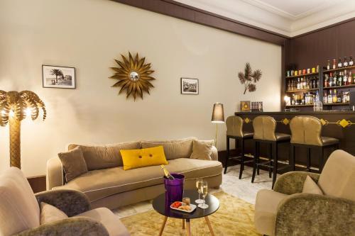 The lounge or bar area at La Malmaison Nice Boutique Hôtel