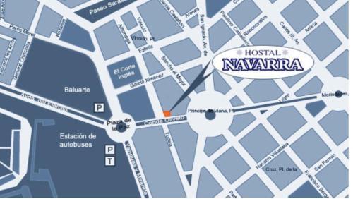 A bird's-eye view of Hostal Navarra