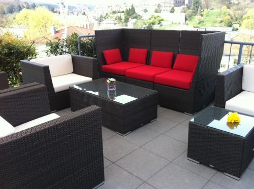 Ein Sitzbereich in der Unterkunft Hotel Magnetberg