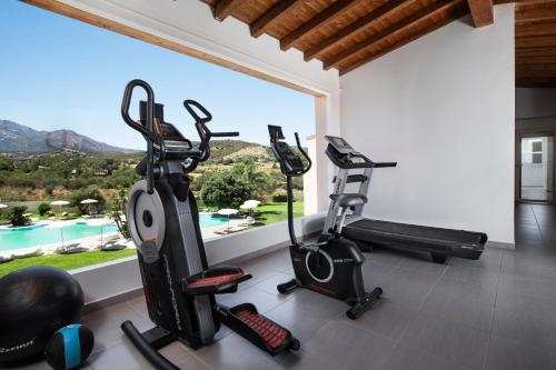 The fitness center and/or fitness facilities at Hotel San Teodoro