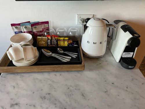 Coffee and tea-making facilities at Ballina Manor Small Luxury Hotel