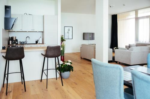 Küche/Küchenzeile in der Unterkunft Intermar Hotel & Apartments
