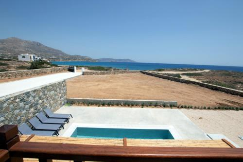 A view of the pool at Cato Agro 1, Seafront Villa with Private Pool or nearby