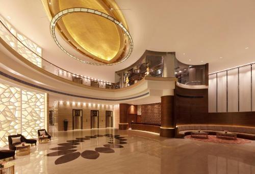 The lobby or reception area at Hilton Jaipur