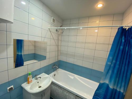 Ванная комната в 1-к квартира Ветеранов 7