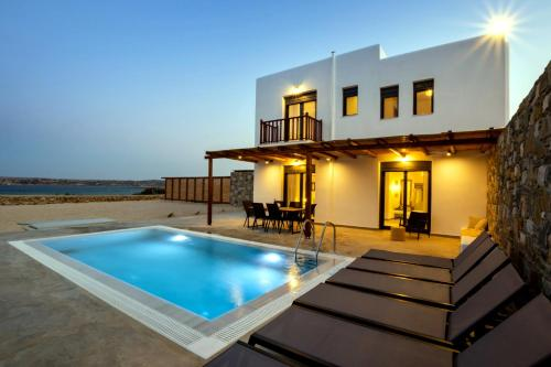 The swimming pool at or near Cato Agro 5, Seafront Villa with Private Pool