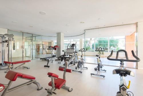 Gimnasio o instalaciones de fitness de Aparthotel Can Picafort Palace