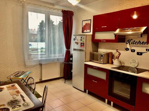 Кухня или мини-кухня в RedKitchen Apartment