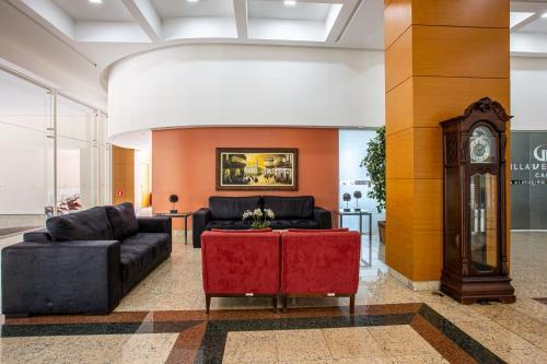 O saguão ou recepção de Villa Vergueiro Hotel