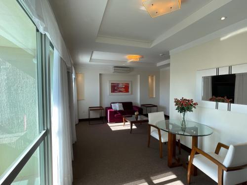Uma área de estar em Villa Vergueiro Hotel