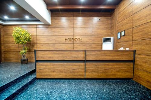 The lobby or reception area at Hotel One Gulberg, Lahore