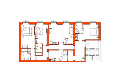 The floor plan of Suite nel Largo