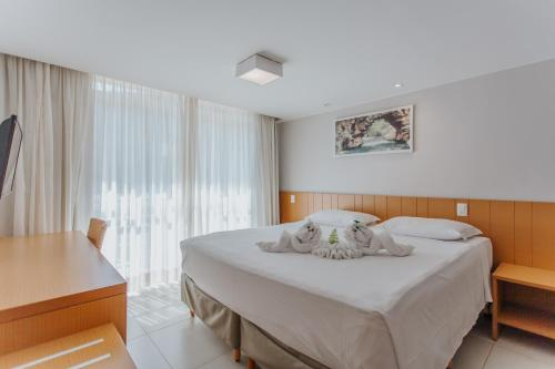 Cama ou camas em um quarto em Rio Quente Resorts - Hotel Pousada