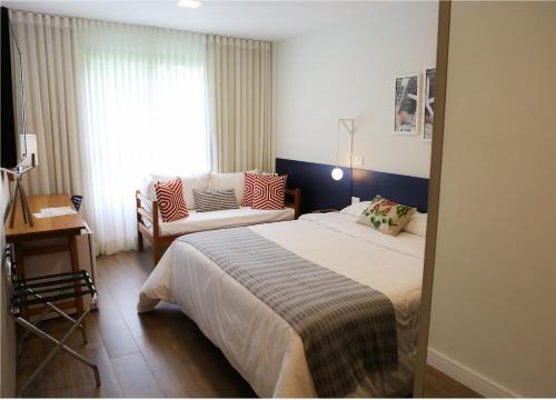 Cama ou camas em um quarto em Hotel do Bosque ECO Resort