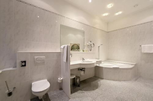 A bathroom at Palais Hotel Erzherzog Johann