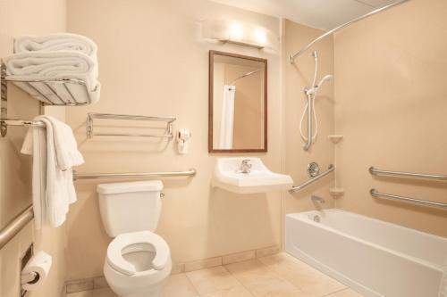 A bathroom at Candlewood Suites Yuma, an IHG Hotel