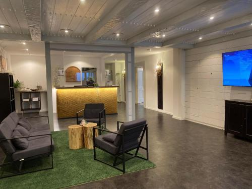 The lobby or reception area at Flair Hotel Vier Jahreszeiten