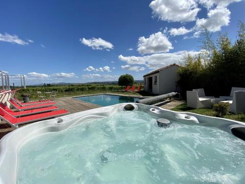 The swimming pool at or close to La Moulinière
