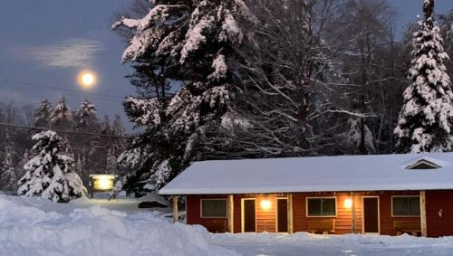 Black Mountain Lodge during the winter