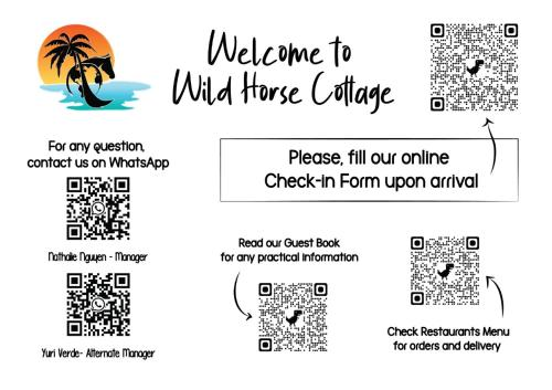 The floor plan of Wild Horse Cottage