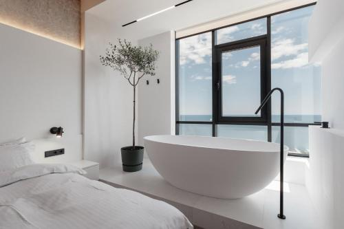 A bathroom at Sea and Sky Apartment